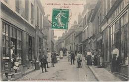 L'AIGLE - Rue Des Emangeards  (vue Animée, épicerie, Tabac, Imprimerie, Tailleur) - L'Aigle