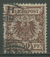 Deutsches Reich 1889 Krone/Adler 50 D Gestempelt Geprüft - Allemagne