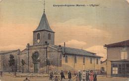 GIVRY EN ARGONNE  - L ' église ( Animée ) Toilée Colorisée - Givry En Argonne