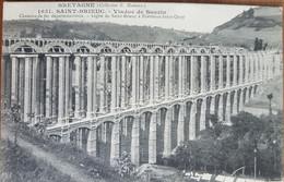 Saint Brieuc.viaduc De Souzin.chemins De Fer Départementaux.viaduc En Construction.édition Hamonic 1651 - Saint-Brieuc