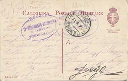 1917 BENGASI/ UFFICIO CORRISPONDENZE C.2 (12.9) Su Cartolina Franchigia Piega Centrale - Libia