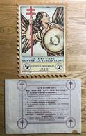 VIGNETTE 1936 TUBERCULOSE GRAND FORMAT 5F - MNH - CV 10€ - LUXE - Antituberculeux