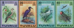 1978Tuvalu58-61Birds11,00 € - Uccelli Canterini Ed Arboricoli