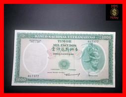 TIMOR 1.000  1000 Escudos 21.3.1968   P. 30  VF - Timor