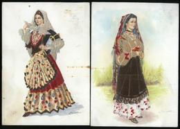 SARDEGNA - LOTTO DI 2 CARTOLINE COSTUMI SARDI 1963: DORGALI + QUARTU S. ELENA - ABITI VELLUTATI - Costumi