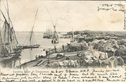 000388 - SOUDAN - SUDAN - LANDING PLACE AT OMDURMAN- ED. VENIERIS - 1907 - Sudan
