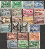 Peru 1936 Sc C16-28,C30-38  Air Post Partial Set Most Used - Pérou