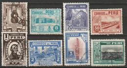 Peru 1949 Sc 426-33  Complete Set Used/MH - Pérou