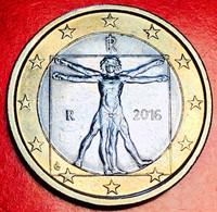 ITALIA - 2016 - Moneta - Proporzioni Ideali Del Corpo Umano, Disegno Di Leonardo Da Vinci - Euro 1.00 - Italie