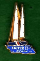 Pin's  Voilier  Kriter II Zamac  Arthus Bertrand - Arthus Bertrand