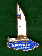 Pin's  Voilier  Kriter III Zamac  Arthus Bertrand - Arthus Bertrand