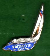 Pin's  Voilier  Kriter VIII  Zamac  Arthus Bertrand - Arthus Bertrand
