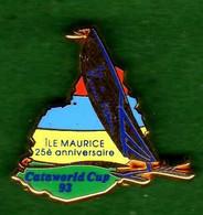 Pin's  Voilier 25ème ANNIVERSAIRE CATAWORLD CUP  (* Voir Description) Zamac  Arthus Bertrand - Arthus Bertrand
