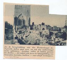Orig. Knipsel Coupure Tijdschrift Magazine - Ieper - Heropbouw Hallen - 1940 - Zonder Classificatie