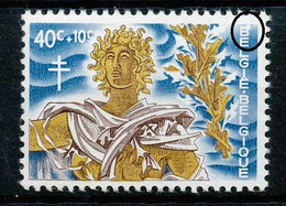 [101820]TB//**/Mnh-N° 1163-v1, 40c + 10c Tapisserie, Boule Blanche Au B De Belgique. - Errors (Catalogue Luppi)