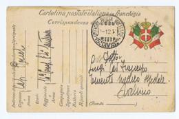 CARTOLINA POSTALE ITALIANA IN FRANCHIGIA - UFFICIO POSTA MILITARE 15 DIVISIONE - SPEDITA DICEMBRE 1915 ( 6358) - Guerre 1914-18