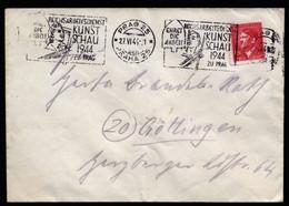 A6835) Böhmen & Mähren Brief V. Prag 25 27.06.44 N. Göttingen Mit Seltenem Maschinenstempel Kunstschau - Storia Postale