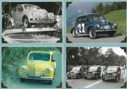 4 CV RENAULT - 6 Cartes Postales De Collection - Série Limitée - Otros