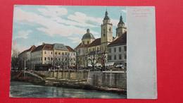 Ljubljana-Pogacarjev Trg.Stolna Cerkev In Semenisce.Laibach-Domkirche - Slovenië