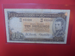 AUSTRALIE 10 SHILLINGS 1961-65 Circuler (B.20) - Emissioni Governative Pre-decimali 1913-1965