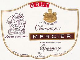 Etiquette Champagne MERCIER à Epernay / F.C.N. L'Ouest Avec Nous. - Champagne