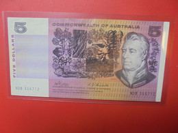 AUSTRALIE 5$ 1969 WPM N°39 SIGNATURE B Cotes:50-265$ Circuler (B.20) - Emissioni Governative Decimali 1966-...