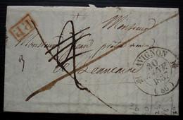 Avignon 1837, Lettre En Port Payé Pour Beaucaire - 1801-1848: Precursores XIX