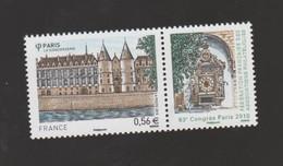 FRANCE / 2010 / Y&T N° 4494 ** : Congrès FFAP à Paris - La Conciergerie (avec Vignette) X 1 - Unused Stamps