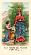 Santino/holycard: B.V. DEL FRASSINO - Oneta (BG) - E - PR - Mm. 60 X 110 - Religion &  Esoterik