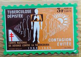 VIGNETTE TUBERCULOSE 1964 GRAND FORMAT 3F - MNH - Tegen Tuberculose