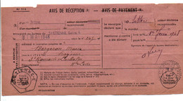 AVIS DE SAINT ETIENNE POUR SAINT ROMAIN LACHALM HAUTE LOIRE 1948 - 1921-1960: Modern Tijdperk