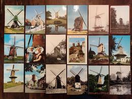Lot Van 38 Postkaarten CPA  Windmolen Windmill Moulin A Vent - Mulini A Vento