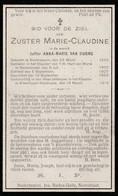 Zuster, Soeur: Nederzwalm, Steenhuyze, Wynhuyze, Nederbrakel, 1918, Anna Van Durme - Andachtsbilder