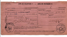 AVIS DE SAINT ETIENNE POUR SAINT JUST MALMONT HAUTE LOIRE 1948 - 1921-1960: Modern Tijdperk