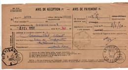 AVIS DE SAINT ETIENNE POUR RETOURNAC HAUTE LOIRE 1950 - 1921-1960: Modern Tijdperk
