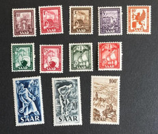 SARRE - 1949 - YT 255 à 262 - Neuf Sans Charnière ** - Cote 95E - Ungebraucht