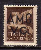 TRIESTE VENEZIA GIULIA 1945 1947 AMG-VG SOPRASTAMPATO D'ITALIA ITALY OVERPRINTED AEREA AIR MAIL CENT. 50c MNH - 7. Triest