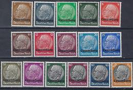 Luxembourg - Luxemburg  Timbres 1940  Occupation 2ième Guerre Mondiale  MNH ** Satz Hindenburg  KW 45,- - Blocks & Sheetlets & Panes