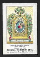 Santino/holycard: AUXILIUM CHRISTIANORUM - Santuario Di Brasa - E - PR - Mm. 75 X 110 - Religion &  Esoterik