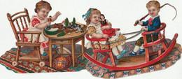 Decoupi Enfants Jouent 2 Grand Decoupi 14 X 10 Cm - Children