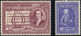 Ruanda 0200/201* Mozart  H - 1948-61: Mint/hinged