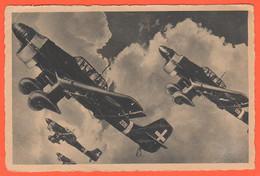 Picchiatelli Stukas Aeronautica 1942 Aviazione Militare Italiana Aerei Bombardieri In Volo Cpa Propaganda - Guerra 1939-45