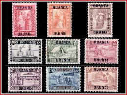 Ruanda 0081/89*  Caritas H - 1924-44: Mint/hinged
