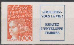 "FR Adhesif YT 16b (3101a) "" Luquet 1F00 + Vignette "" 1997 Neuf** - 1997-04 Marianne Van De 14de Juli"