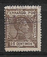 Fernando Poo, SPAIN 1907 Alfonso XIII Used - Fernando Po