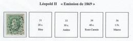"COB 30/36 Léopold II ""Emission De 1869"" -  Bureau De Poste De :   L 361  TIRLEMONT - 1869-1883 Leopold II"