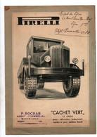 """Publicité Pirelli """"Cachet Vert"""" Le Pneu Pour Véhicules Industriels Rapides Et Pour Autobus Lourds - Cars"""