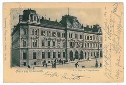 UK 64 - 11269 CZERNOWITZ, Bukowina, Post Office, Ukraine - Old Postcard - Used - 1902 - Ucrania