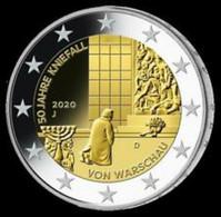 """Duitsland 2020  2 Euro Commemo  Letter J   Atelier J    """"WARSCHAU""""  UNC Uit De Rol  UNC Du Rouleaux - Germany"""
