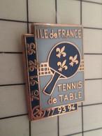 2020 Pin's Pins / Rare Et De Belle Qualité !!! THEME SPORTS / TENNIS DE TABLE PING-PONG ILE DE FRANCE Y'a Du Pognon ! - Table Tennis